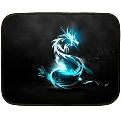 Dragon Classical Light  Double Sided Fleece Blanket (mini)  by amphoto