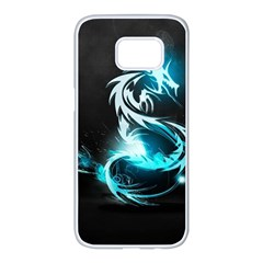 Dragon Classical Light  Samsung Galaxy S7 Edge White Seamless Case by amphoto