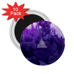 Smoke Triangle Lilac  2 25  Magnets (10 Pack)  by amphoto