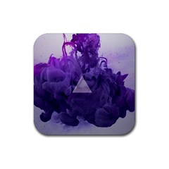 Smoke Triangle Lilac  Rubber Coaster (square)  by amphoto