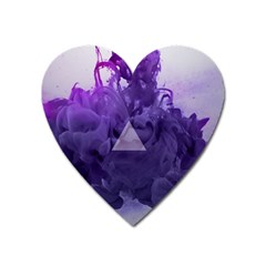 Smoke Triangle Lilac  Heart Magnet by amphoto