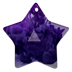 Smoke Triangle Lilac  Star Ornament (two Sides) by amphoto