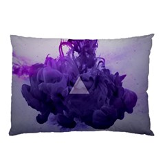 Smoke Triangle Lilac  Pillow Case by amphoto