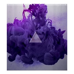 Smoke Triangle Lilac  Shower Curtain 66  X 72  (large)  by amphoto