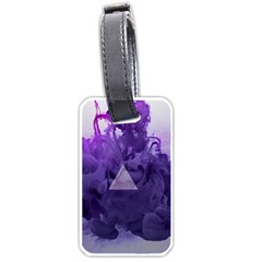 Smoke Triangle Lilac  Luggage Tags (two Sides) by amphoto