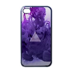 Smoke Triangle Lilac  Apple Iphone 4 Case (black) by amphoto