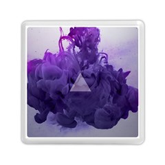 Smoke Triangle Lilac  Memory Card Reader (square)  by amphoto