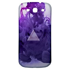 Smoke Triangle Lilac  Samsung Galaxy S3 S Iii Classic Hardshell Back Case by amphoto