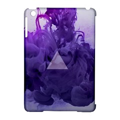 Smoke Triangle Lilac  Apple Ipad Mini Hardshell Case (compatible With Smart Cover) by amphoto