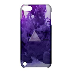 Smoke Triangle Lilac  Apple Ipod Touch 5 Hardshell Case With Stand by amphoto