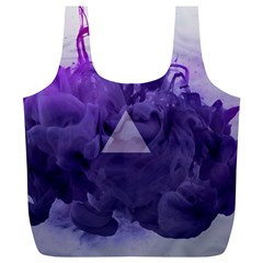 Smoke Triangle Lilac  Full Print Recycle Bags (l)  by amphoto