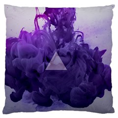 Smoke Triangle Lilac  Large Flano Cushion Case (two Sides) by amphoto