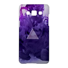 Smoke Triangle Lilac  Samsung Galaxy A5 Hardshell Case  by amphoto