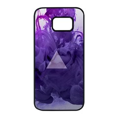 Smoke Triangle Lilac  Samsung Galaxy S7 Edge Black Seamless Case by amphoto