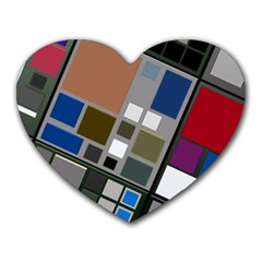 Abstract Composition Heart Mousepads by Nexatart