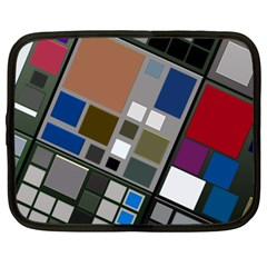 Abstract Composition Netbook Case (large) by Nexatart