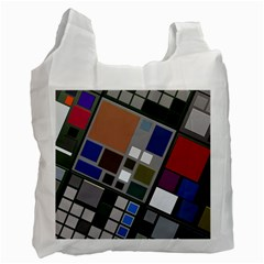 Abstract Composition Recycle Bag (one Side) by Nexatart