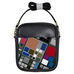 Abstract Composition Girls Sling Bags by Nexatart