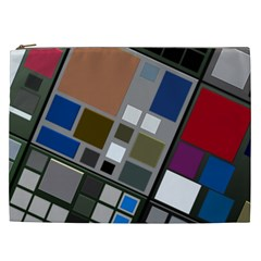 Abstract Composition Cosmetic Bag (xxl)  by Nexatart