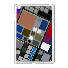 Abstract Composition Apple Ipad Mini Case (white) by Nexatart