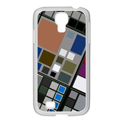 Abstract Composition Samsung Galaxy S4 I9500/ I9505 Case (white)