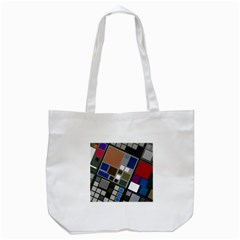 Abstract Composition Tote Bag (white) by Nexatart
