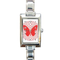 Butterfly Rectangle Italian Charm Watch