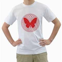 Butterfly Men s T Shirt (white) (two Sided)