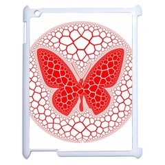 Butterfly Apple Ipad 2 Case (white)