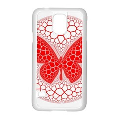 Butterfly Samsung Galaxy S5 Case (white) by Nexatart