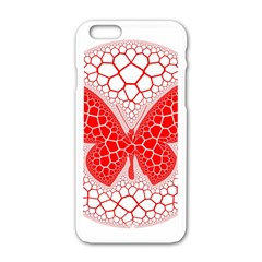 Butterfly Apple Iphone 6/6s White Enamel Case