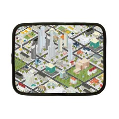 Simple Map Of The City Netbook Case (small)  by Nexatart