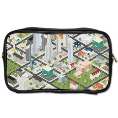 Simple Map Of The City Toiletries Bags 2 Side