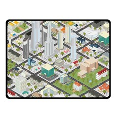 Simple Map Of The City Fleece Blanket (small)