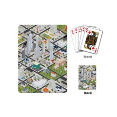 Simple Map Of The City Playing Cards (mini)  by Nexatart