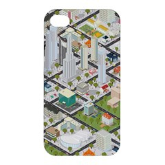 Simple Map Of The City Apple Iphone 4/4s Premium Hardshell Case