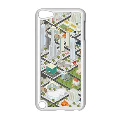 Simple Map Of The City Apple Ipod Touch 5 Case (white)