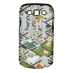 Simple Map Of The City Samsung Galaxy S Iii Classic Hardshell Case (pc+silicone) by Nexatart