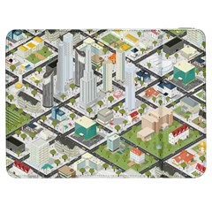Simple Map Of The City Samsung Galaxy Tab 7  P1000 Flip Case