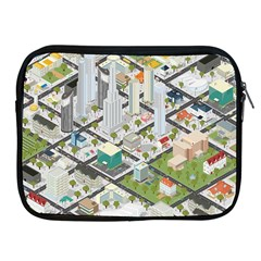 Simple Map Of The City Apple Ipad 2/3/4 Zipper Cases