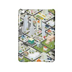 Simple Map Of The City Ipad Mini 2 Hardshell Cases by Nexatart