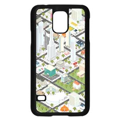Simple Map Of The City Samsung Galaxy S5 Case (black)