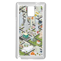 Simple Map Of The City Samsung Galaxy Note 4 Case (white)