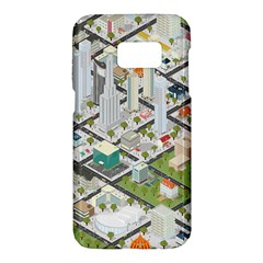 Simple Map Of The City Samsung Galaxy S7 Hardshell Case