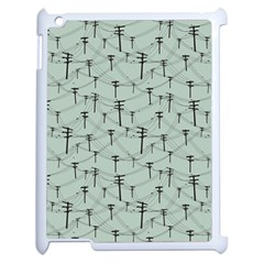 Telephone Lines Repeating Pattern Apple Ipad 2 Case (white) by Nexatart