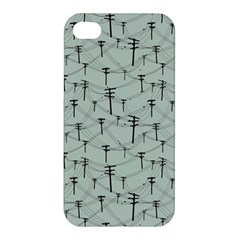 Telephone Lines Repeating Pattern Apple Iphone 4/4s Premium Hardshell Case