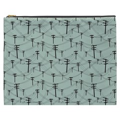 Telephone Lines Repeating Pattern Cosmetic Bag (xxxl)