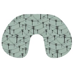 Telephone Lines Repeating Pattern Travel Neck Pillows by Nexatart
