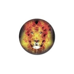 Fractal Lion Golf Ball Marker (4 Pack)