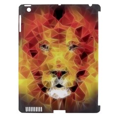 Fractal Lion Apple Ipad 3/4 Hardshell Case (compatible With Smart Cover)